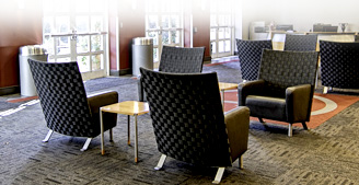Seating area at Bryant Conference Center